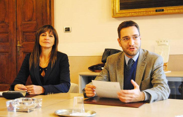La Presidente Arer Patrizia Diémoz e l'assessore comunale alla Mobilità Andrea Edoardo Paron