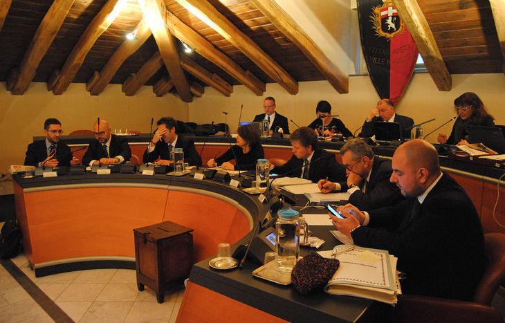 La giunta comunale di Aosta