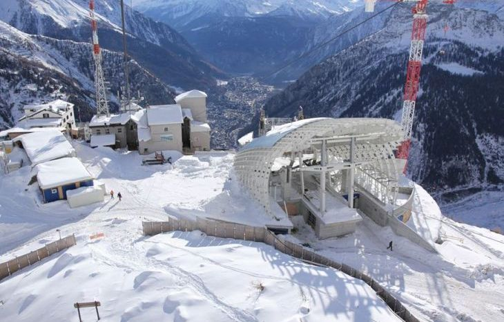 Funivie Monte Bianco, Pavillon