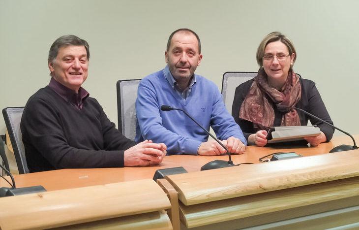 Nuova segretaria Cgil, da sx Antonio Fuggetta, Domenico Falcomatà e Vilma Gaillard