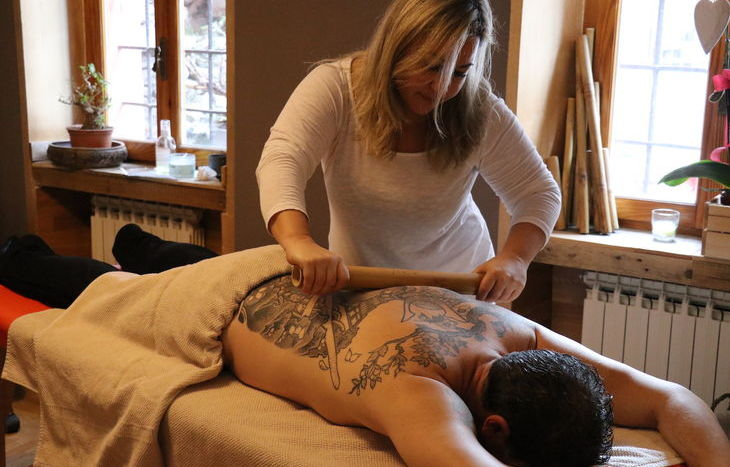 Bamboo massage al Human4Human