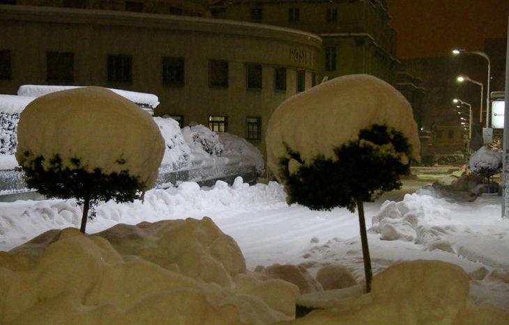 Nevicata ad Aosta del 12 gennaio 2017