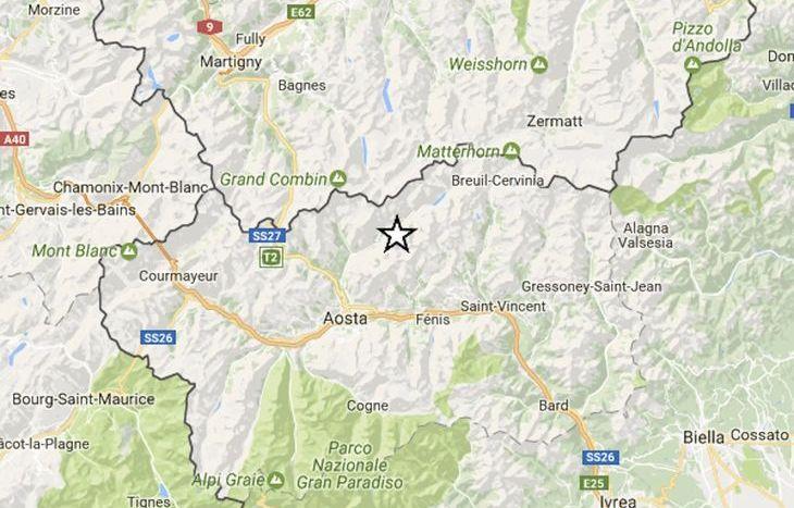 scossa terremoto Aosta 26 gennaio 2017