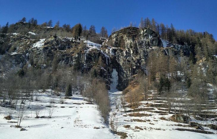 cascata ghiaccio Gressoney