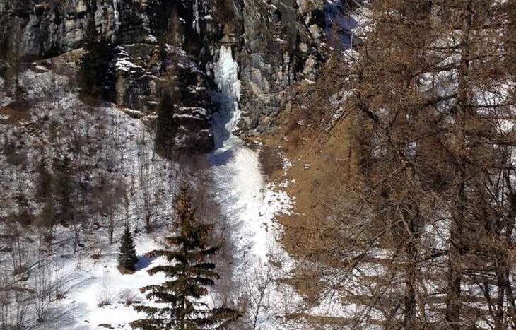 La cascata di ghiaccio a Gressoney-Saint-Jean