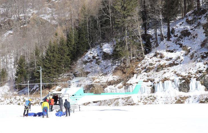 tragedia cascata Gressoney-Saint-Jean