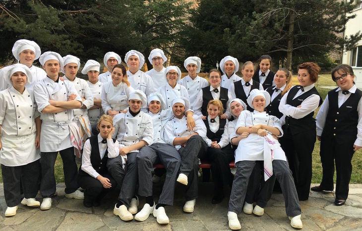Gil studenti dell'Ipra di Chatillon