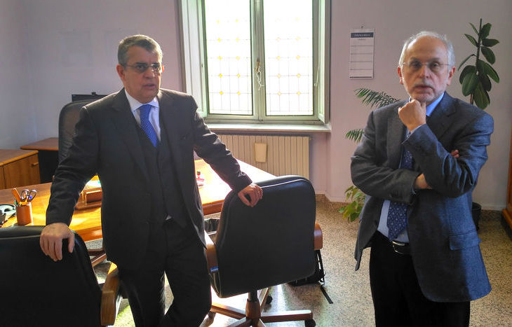 Il procuratore generale Francesco Saluzzo con l'avvocato generale Giorgio Vitari.