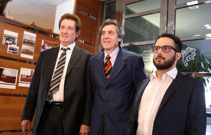 Da sx Paolo Contoz, Carlo Norbiato e Andrea Padovani