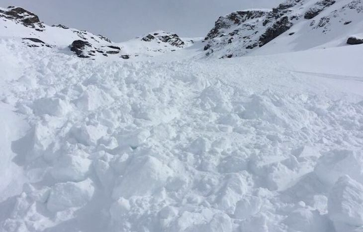 Valanga sul Mont Giasson
