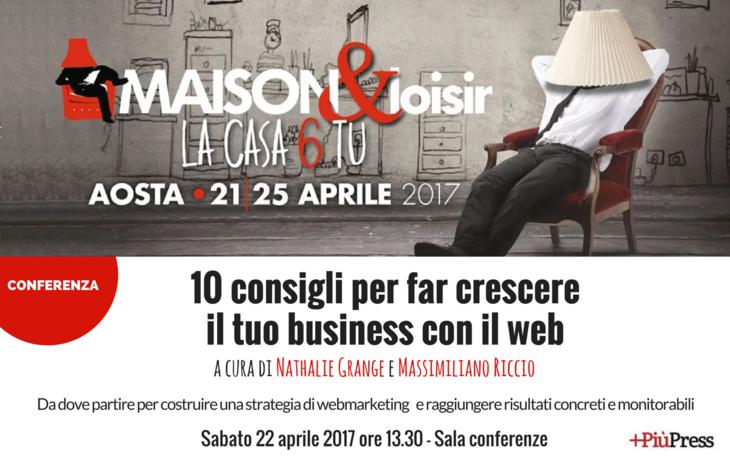 Locandina conferenza Piupress Maison&Loisir