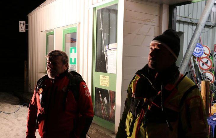 Il direttore del Soccorso Alpino Adriano Favre e il presidente della CRI Paolo Sinisi.