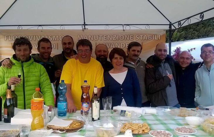 Aperitivo fiorito 2016 della cooperativa sociale Mont Fallère