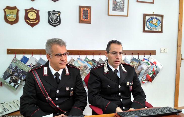 Da sx: il maresciallo Olivieri e il tenente Mossucca.