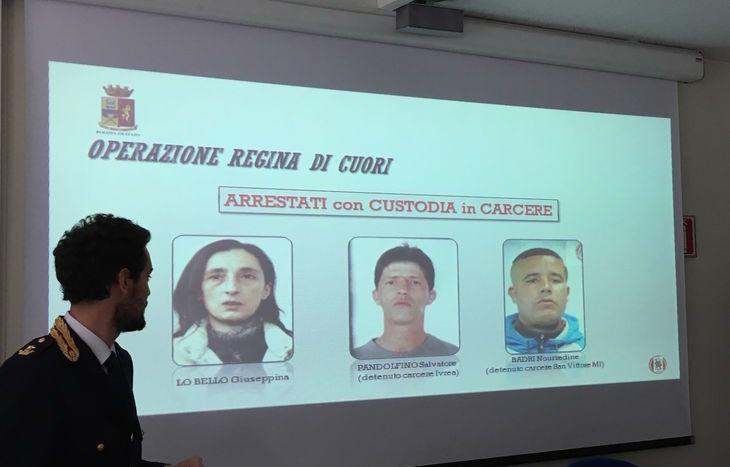 Operazione Regina di cuori; gli arrestati