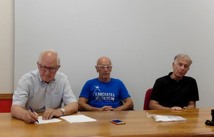 Luigino Vallet, Guido Azzalea e Pietro Giglio