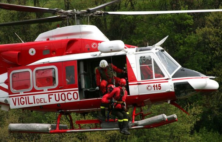 Un elicottero dei Vigili del fuoco.