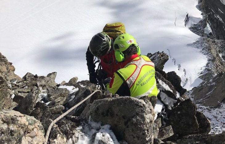 Il Soccorso alpino valdostano al lavoro