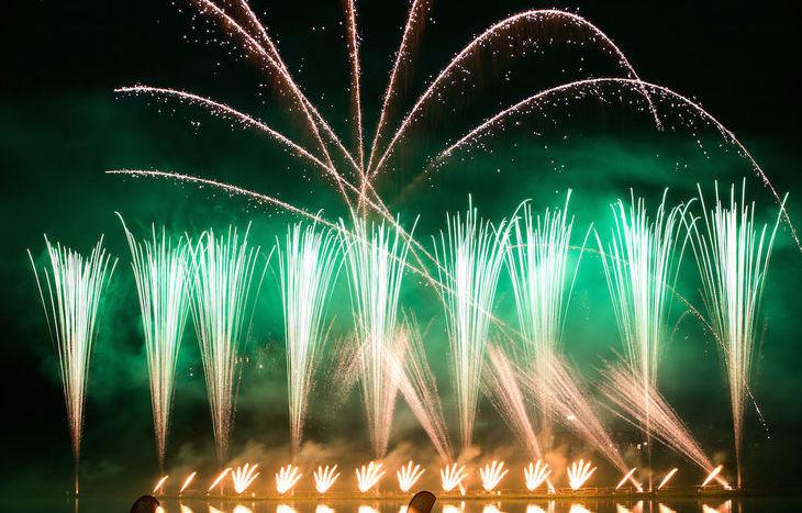 Fuochi d'artificio Cva a Brusson