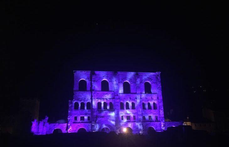 Son et lumières al Teatro Romano