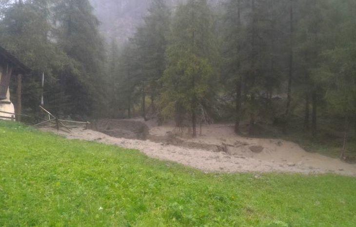 Esondazione a Ollomont - Foto dal gruppo Facebook Amici di Ollomont