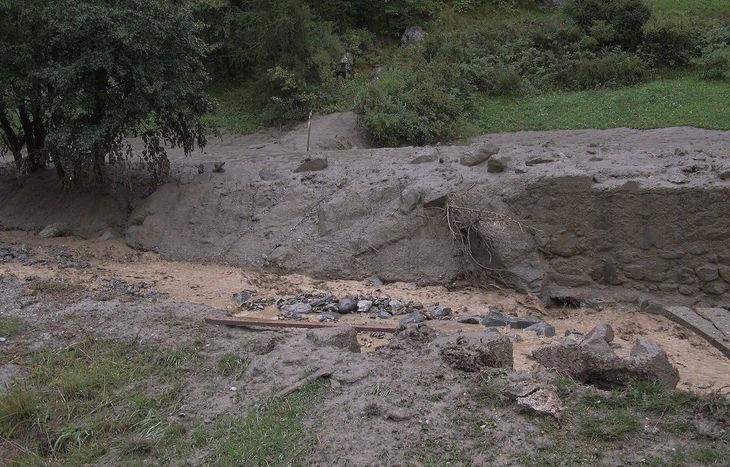 Esondazione a Ollomont  Foto dal gruppo Facebook Amici di Ollomont
