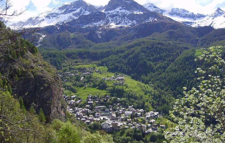Vista da Promoron su Valtournenche