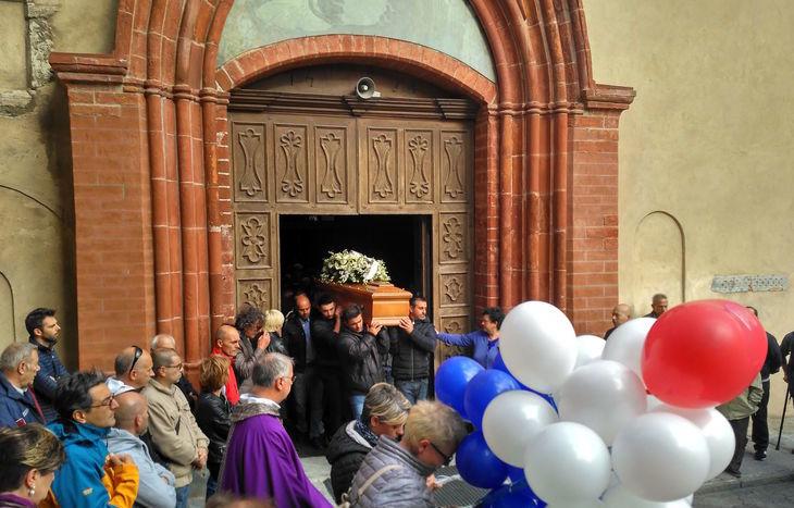 I funerali di Davide Martorana.