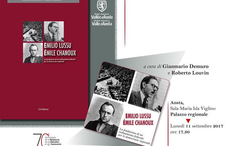 Il volume su Lussu e Chanoux scritto da Demuro e Louvin