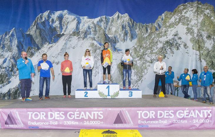 Premiazioni Tor des Géants 2017 - Podio femminile