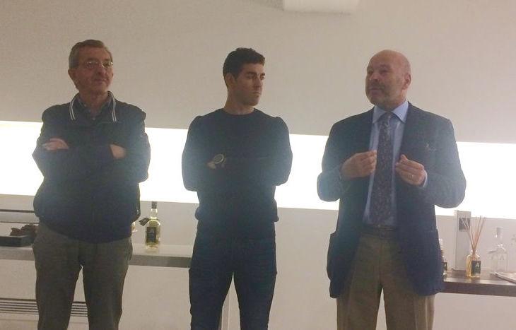 Da sx: Riccardo Borbey, Federico Pellegrino e Nicola Rosset