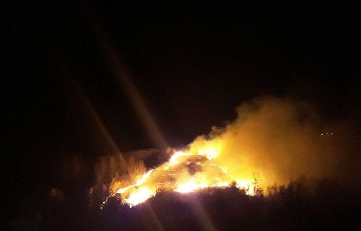 Incendio Gignod bivio per Allein