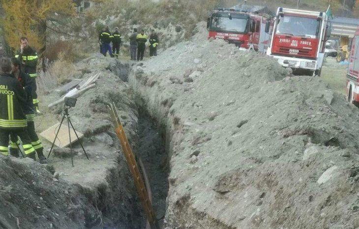 Il luogo dell'incidente  - nel crollo di un cantiere muore 44enne