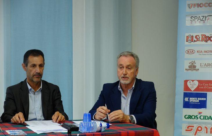 Claudio Restano e Andrea Rosset alla presentazione degli eventi Asiva