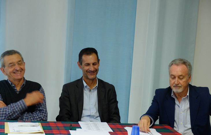 Riccardo Borbey, Claudio Restano e Andrea Rosset alla presentazione degli eventi Asiva