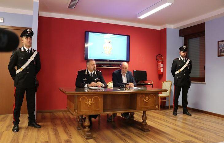 Il Tenente Colonello Maurizio Pinardi e il pm Luca Ceccanti
