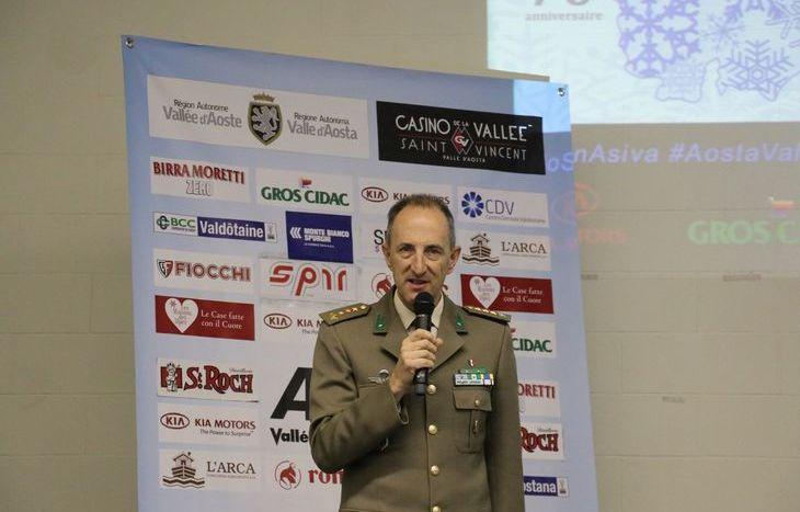 Il comandante del Centro Sportivo Esercito Marco Mosso