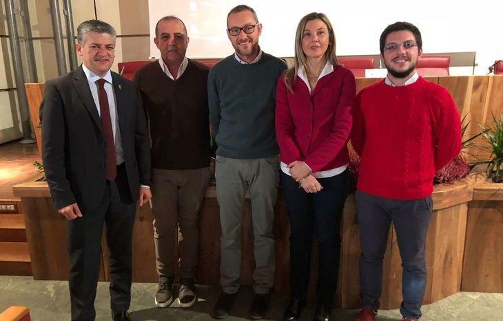 Da sx: Luigi Bertschy, Claudio Latino, Fabio Molino, Maria Chiara Gadda e Giulio Gasperini