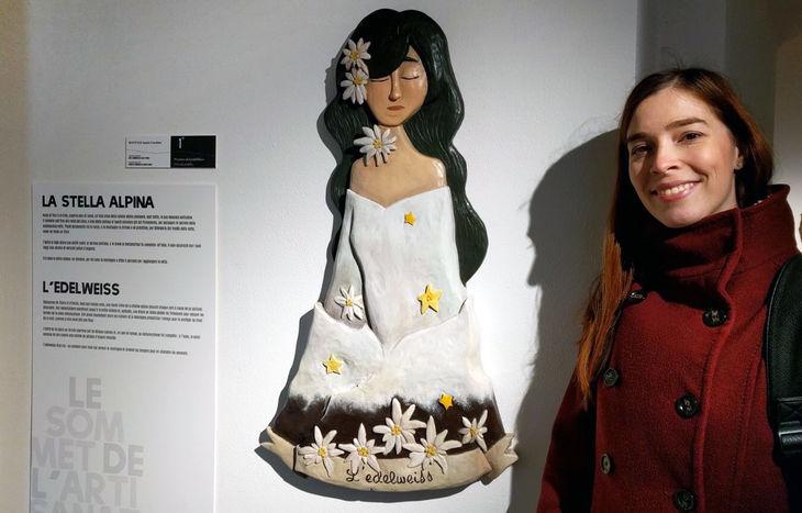 Annie Roveyaz - La scultura vincitrice del premio del pubblico alla Foire d'été