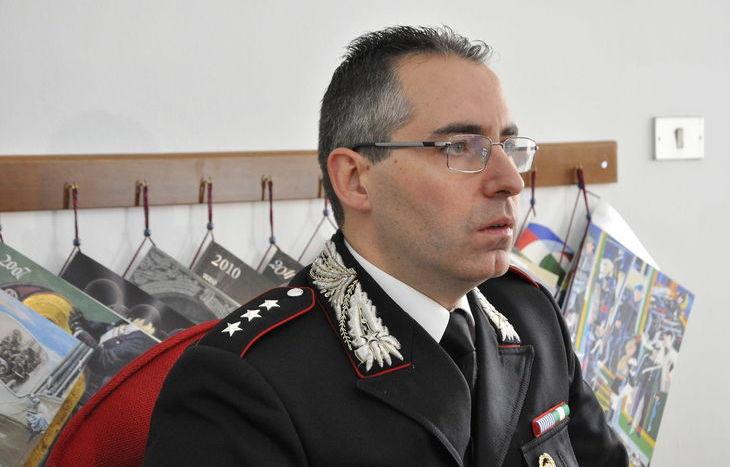 Il capitano Carmelo Stefano Mossucca, comandante della Compagnia.
