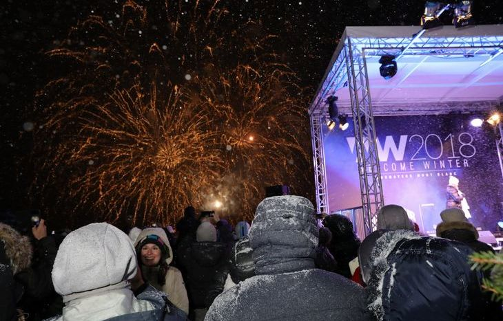 Welcome Winter 2018, i fuochi d'artificio a Courmayeur