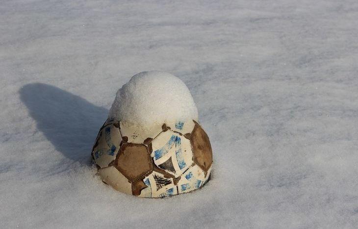calcio, neve