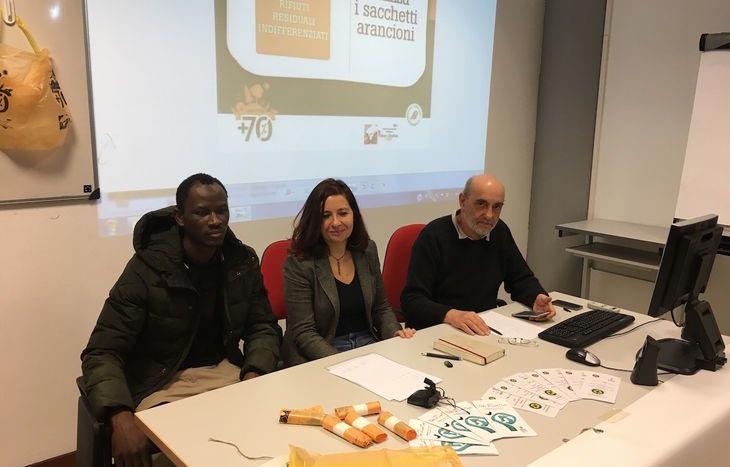 Nella foto da sx Arona, Jeanne Cheillon e Sauro Savoldelli