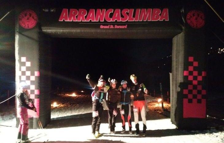 Arrancaslimba - La prima coppia al traguardo