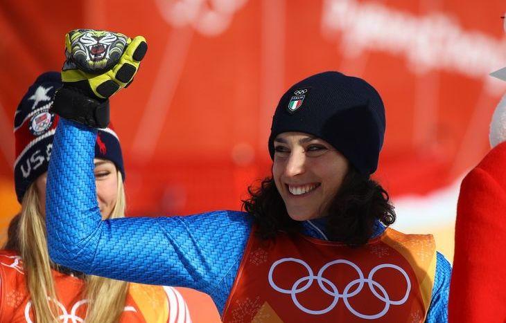 Federica Brignone bronzo nel gigante - foto Pentaphoto/Marco Trovati