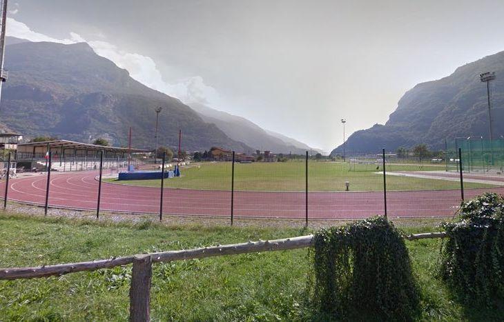 """Il campo sportivo """"Crestella"""" di Donnas"""