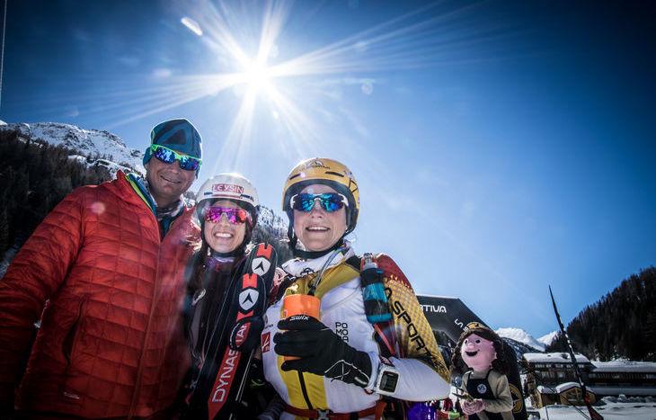 Le vincitrici della prima tappa con Camandona - Tour du Rutor Extreme 2018