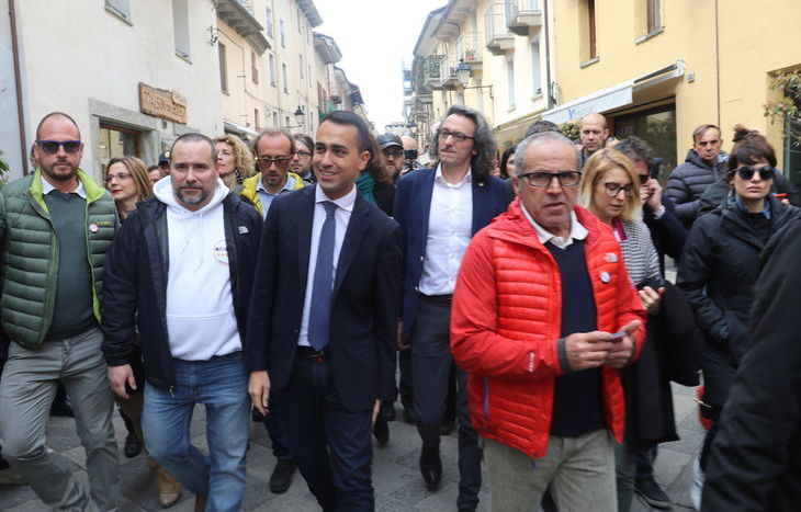 Lugi di Maio ad Aosta per il Firma Day