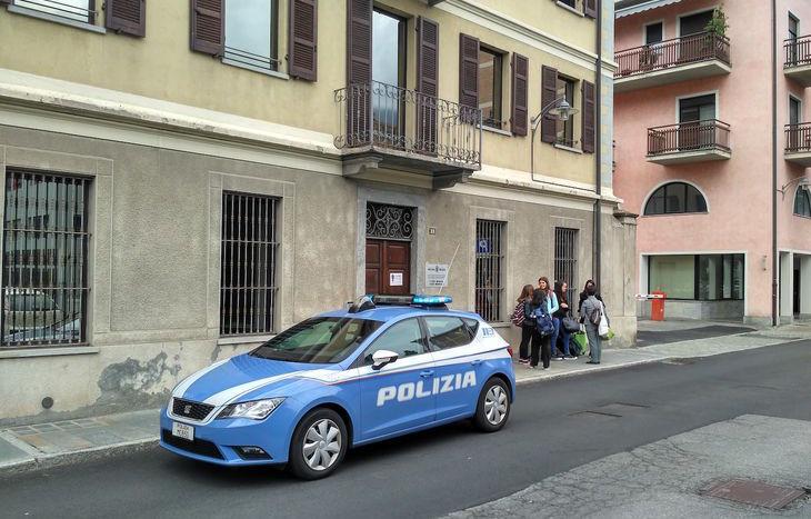 L'intervento della Polizia al liceo musicale.