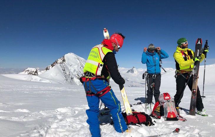 Le operazioni di ricerca sul Monte Rosa.